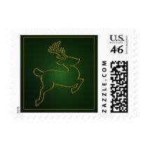 Christmas Reindeer Postage Stamp