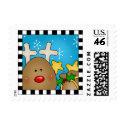 Christmas Reindeer postage stamps stamp
