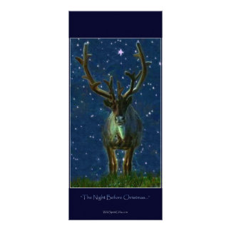 Christmas Reindeer Custom Rack Card