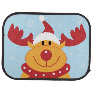 Christmas Reindeer Rear Car Mats Car Mat