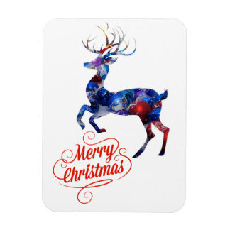 Christmas Reindeer Rectangular Photo Magnet