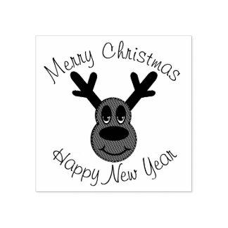 Christmas Reindeer Rubber Stamp