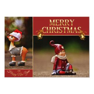 christmas reindeer - Santa helper - gnome Card