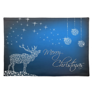 Christmas Reindeer & Stars Place Mat