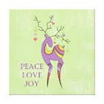 Christmas Reindeer Stretched Canvas Print