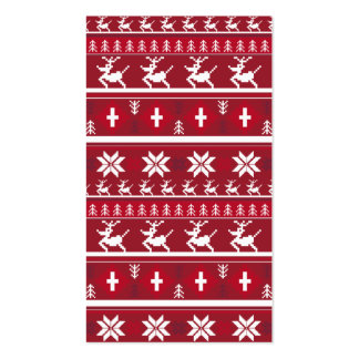 Christmas Reindeer Stripe Bookmark Business Card