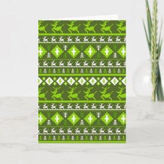 Christmas Reindeer Stripe Card card