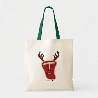 Christmas Reindeer T-bone Steak Tote Bag