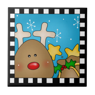 Christmas Reindeer Tile Trivet