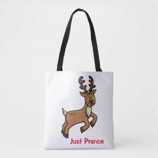 Christmas Reindeer Tote Bag - Just Prance Tote Bag