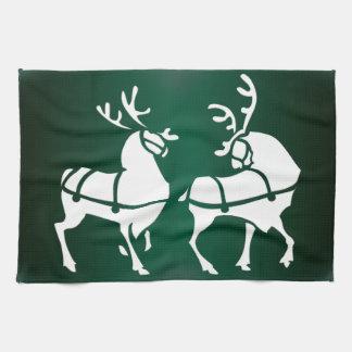 Christmas Reindeer Towel Custom Holiday Tea Towels