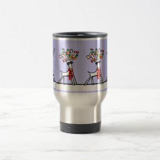 Christmas reindeer travel mug