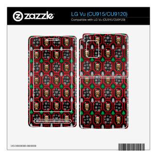 Christmas reindeer trellis pattern decal for the LG vu
