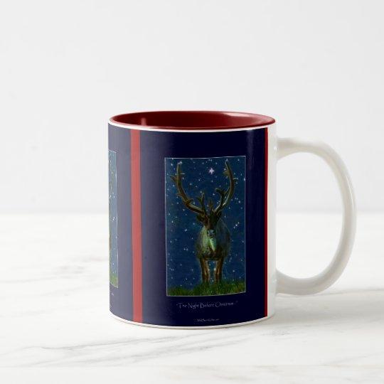 Christmas Reindeer Two-Tone Coffee Mug