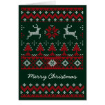 Christmas Reindeer Ugly Sweater greeting card