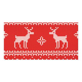 Christmas Reindeers Jumper Knit Pattern Card
