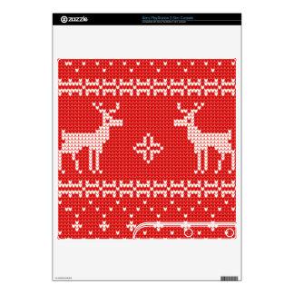 Christmas Reindeers Jumper Knit Pattern PS3 Slim Decal