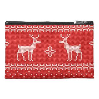 Christmas Reindeers Jumper Knit Pattern Travel Accessories Bag