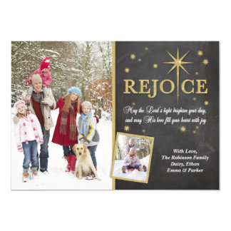 Christmas Rejoice Glitter Star Card
