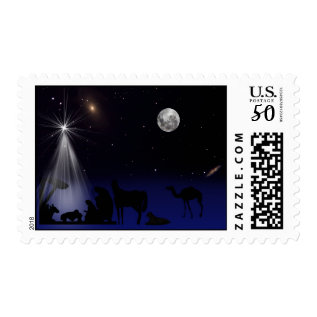 Christmas, Religious, Nativity Postage Stamp at Zazzle