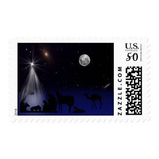Christmas, Religious, Nativity Postage Stamp