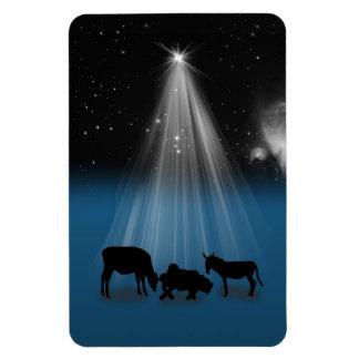 Christmas, Religious, Nativity, Stars, Magnet