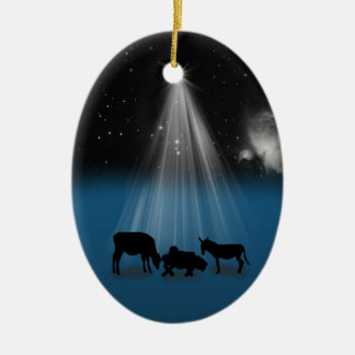 Christmas, Religious, Nativity, Stars, Ornament