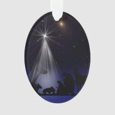 Christmas, Religious, Nativity, Stars Ornament at Zazzle