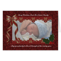 Christmas Religious Photo Card - Blessed Christmas