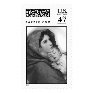 Christmas Religious postage stamps Black and white