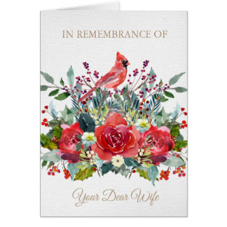 Christmas Remembrance Card | Dear Wife