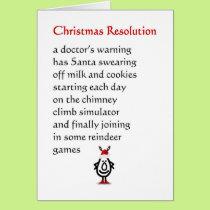 Christmas Resolution - a funny Christmas Poem Card