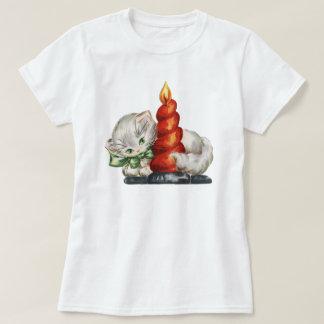 Christmas retro cat T-Shirt
