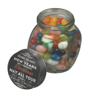 Christmas Retro Chalkboard Antique Font Glass Candy Jars