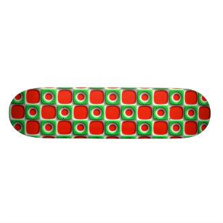 Christmas Retro Dots Skateboard Deck