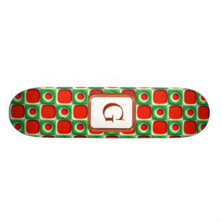 Christmas Retro Dots Skate Decks
