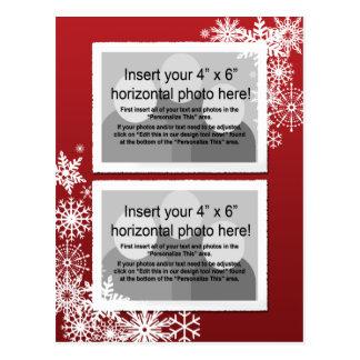 Christmas - Retro Snowflakes Photo Card