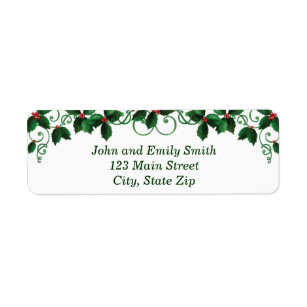 christmas return address labels zazzle