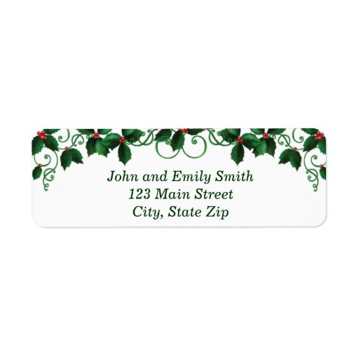classic return address labels featuring the logo from A CHRISTMAS ...