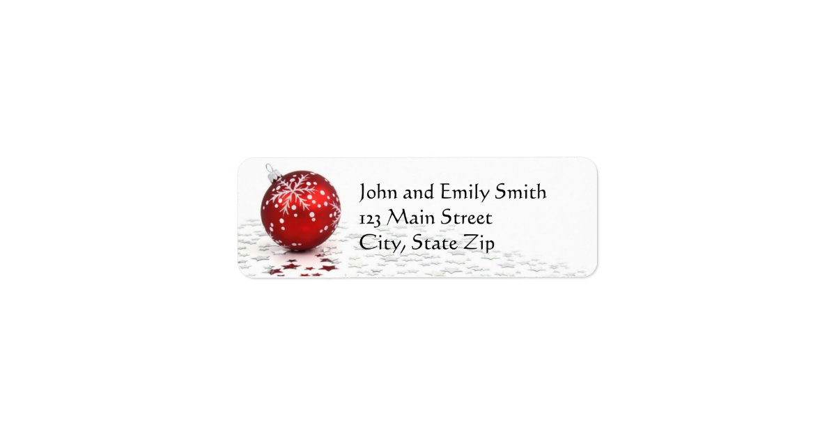 christmas return address labels zazzle com
