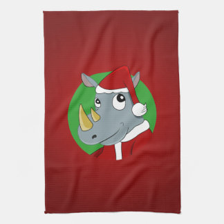 Christmas rhinoceros cartoon towel