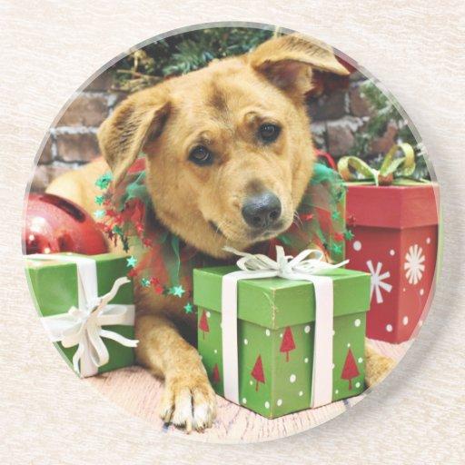Christmas - Rhodesian Ridgeback - Gracie Coasters
