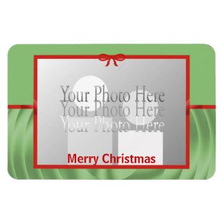 Christmas Ribbon Wrap (photo frame) Flexible Magnets