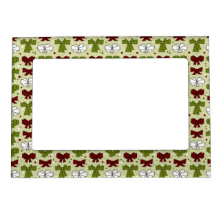 Christmas Ribbons & Bows Magnetic Picture Frame