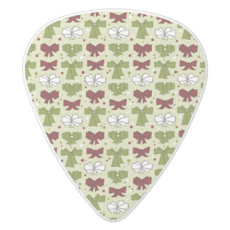 Christmas Ribbons & Bows White Delrin Guitar Pick