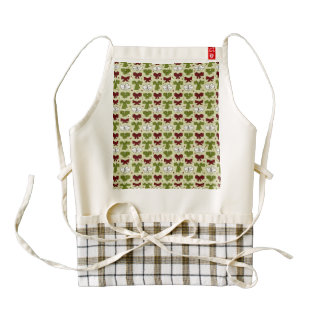 Christmas Ribbons & Bows Zazzle HEART Apron