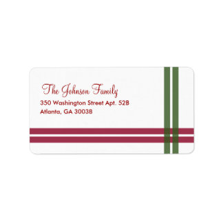 Christmas Ribbons Holiday Address Label Labels