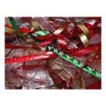 Christmas Ribbons Red Green and Gold Holiday Photo Print