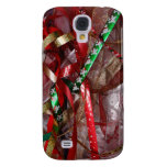 Christmas Ribbons Red Green and Gold Holiday Samsung S4 Case