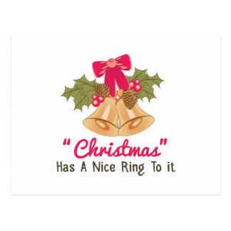 Christmas Ring Postcard